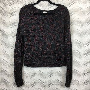 Garage Multicolor Cropped Knit Sweater